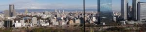 大阪城からの風景