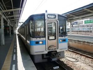 松山駅から三津浜駅へ